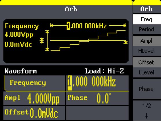 Built-in 46 kinds of arbitrary waveforms (including DC)