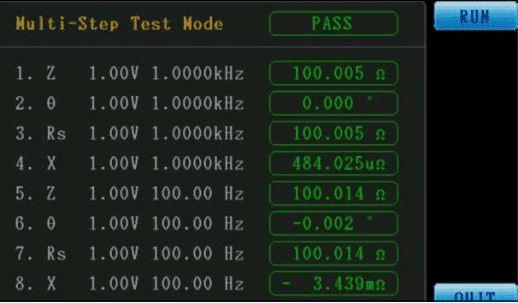 Multi-Step Test Mode