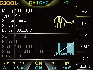 Multiple analogue & digital modulation