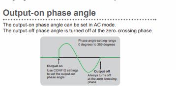Output-on Phase Angle