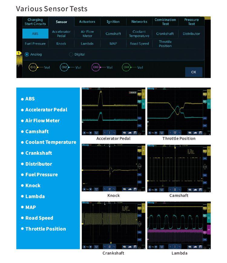 Various Sensor Tests