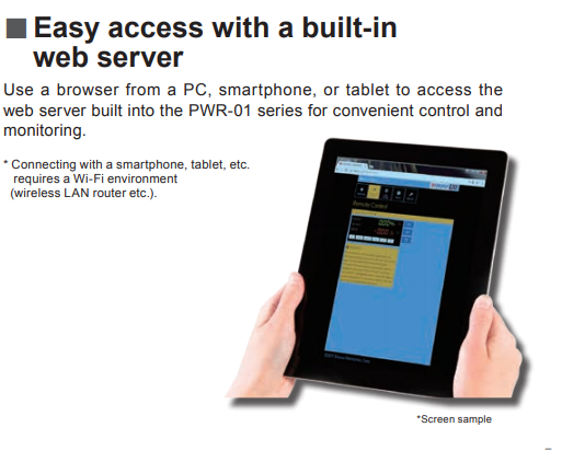 Easy Access With a Built-In Web Server