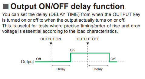 Output ON-OFF Delay Function